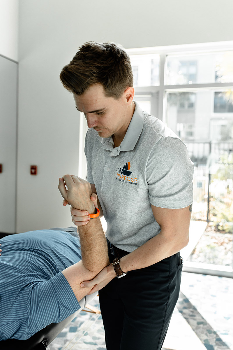 your arm and elbow and physical therapy